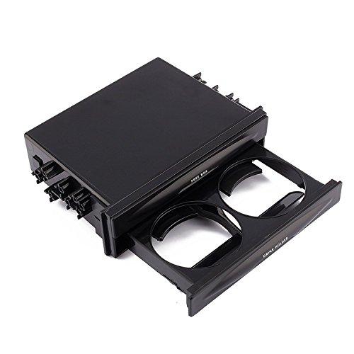 Yosoo Auto Universal Doppel-/Einzel-DIN-Radio-Taschen-Kit mit Trinkbecher - Halter Aufbewahrungsbox für Wasser Kaffee Tasse Flasche
