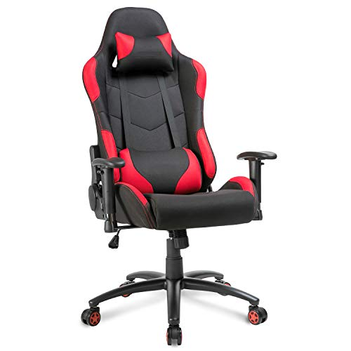 Ergonomic Computer Gaming Chair PU Leather Office Chair Swivel Adjustable Recline Racing Chair (red 1) chair gaming red