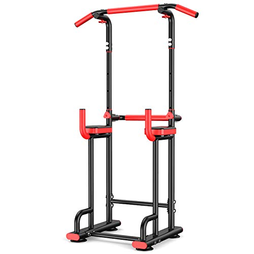 NENGGE Power Tower Workout Dip Stand Pull Up Bar Station Capacity 350KG Multi-function Professional Strength Training Fitness Equipment Durable for Home Gym, Adjustable Height