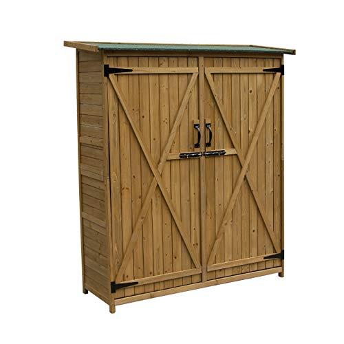 Gardiun KNH1110 - Armario de Madera Cobertizo Sundy 140 X 50 X 162 cm
