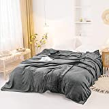 ielevations 10'×10' Big Blanket 120''x120'' Extra Large Blanket Soft Light Smooth Grey Flannel Oversized King Blanket for Family and Friends 120×120 Inch Blanket