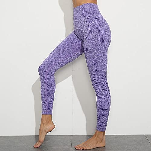 ArcherWlh Pantalones De Yoga,Pantalones de Yoga sin Fisuras Leggings Boo Sweetpants Humedad-púrpura_S