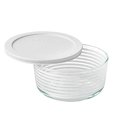 Pyrex Simply Store White Lane 4 cup 950mL with White Plastic Cover