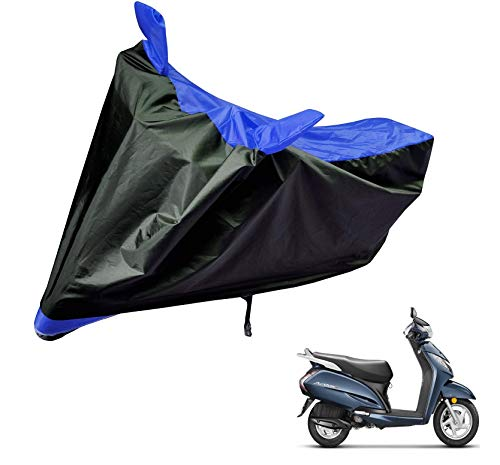 Auto Hub Water Resistant Bike Body Cover for Honda Activa 3G – Black/Blue