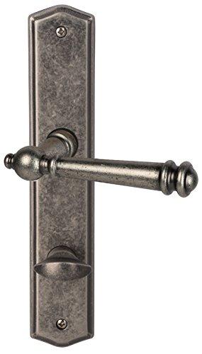 Süd-Metall 32872340 Südmetall Türbeschlag Mount Everest-Langschild Antik Iron für Badezimmertüren Türgriff Türklinke Türdrücker Beschlag