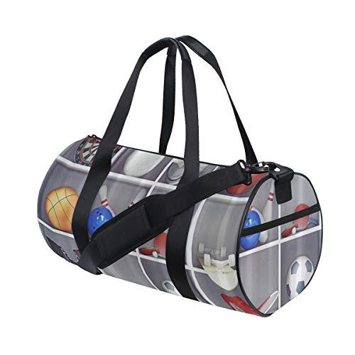 PONIKUCY Sporttasche Reisetasche,Dummkopf Pfeil Basketball Fußball Boxhandschuh Sport Kabinett,Schultergurt Handgepäck für Übernachtung Reisen