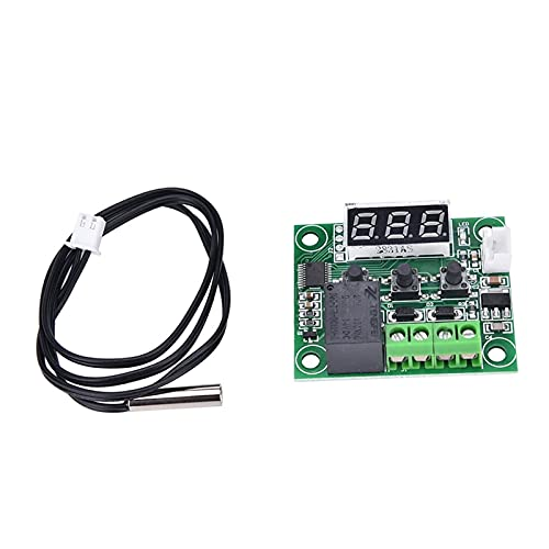 ZRYYD W1209 Digitalanzeige Thermostat Hohe Präzision Temperaturregler Temperatursteuerungsschalter Micro Temperatur Control Board 12V (Size : Digital Display Thermostat)