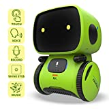 REMOKING Intelligent Roboter Kinder Spielzeug, Interaktives Roboter Lernspielzeug, Geschenke für Jungen Mädchen, Touch-Steuerung, Sprachsteuerung, Sprachaufnahme, Nachsprechen, Tanzen, Musik (Grün)