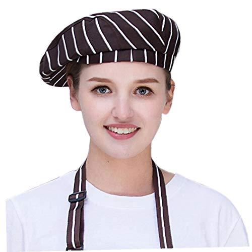 Unisexe Coton Beret Toque Respirant Cap Cuisine Workwear...
