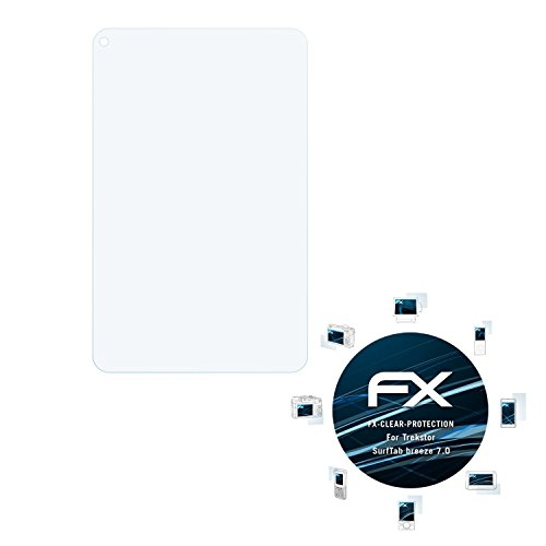 atFolix Schutzfolie kompatibel mit Trekstor SurfTab Breeze 7.0 Folie, ultraklare FX Bildschirmschutzfolie (2X)