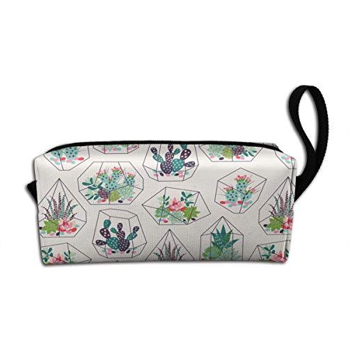 Adorable Cactus Large Capacity Pencil Case Students Pen Bag Pouch Stationary Case Makeup Cosmetic Bag