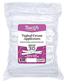 Disposable Plastic Vaginal Applicator Pack  Hygienic Threaded Injector Applicators to Fit Preseed Lubricant Estrace Personal Lube and OTC Gel or Cream Products - With Dosage Measurements - 30 Pack