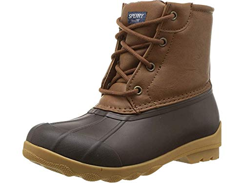 Sperry unisex child Port Rain Boot, Tan/Brown, 5 Big Kid US