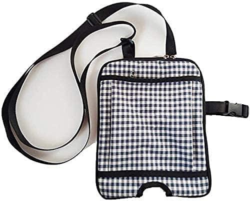 XJYXH Bolsa de catéter a prueba de agua, bolsas de drenaje ancianos Collector de orina Kit de soporte de pierna Soporte de urinario con correa de hombro ajustable, para el hogar, viaje, silla de rueda