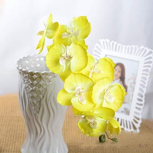 QWERTYU Mode Orchidee Kunstbloemen DIY Kunstmatige Vlinder Orchidee Zijde Bloem Boeket Phalaenopsis Bruiloft Thuis Decoratie LIFUQIANGME