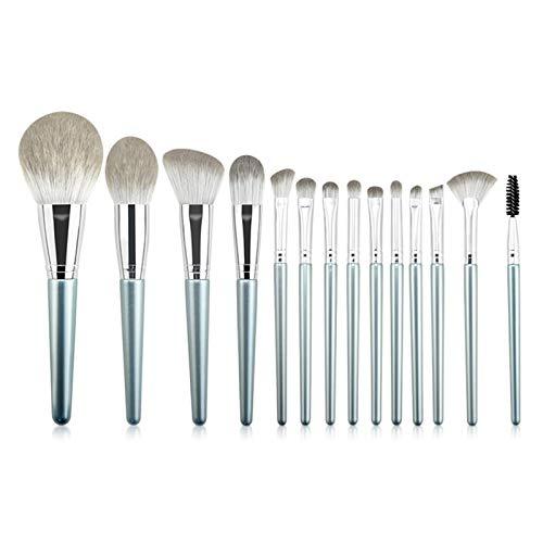 YSJJMES Brochas de Maquillaje 14pcs Pinceles de Maquillaje de Ojos Conjunto con Bolsa Cosmestic Bag Shoeshadow Blending Make Up Brush Extention Makeup Beauty Set para Mujeres (Handle Color : 14pcs)