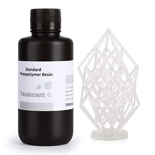 ELEGOO LCD UV 405nm 3D Resina Rápida para LCD Impresora 3D 1000g Fotopolímero Resina Translúcido