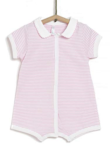 TEX - Pijama de Rayas para Recién Nacido Unisex, Rosa Matiz, 0 a 1 Mes (54 cm)
