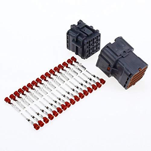 HYY-YY 1 juego de 1/2/3/4/6/8/12/14/16 pines impermeable conector de cable enchufe auto sellado eléctrico coche camión conexión (color 1 juego 16P)