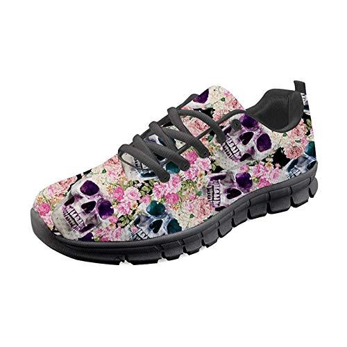 SEANAITVE - Zapatillas de deporte ligeras para mujer, color Rosa, talla 43.5 EU
