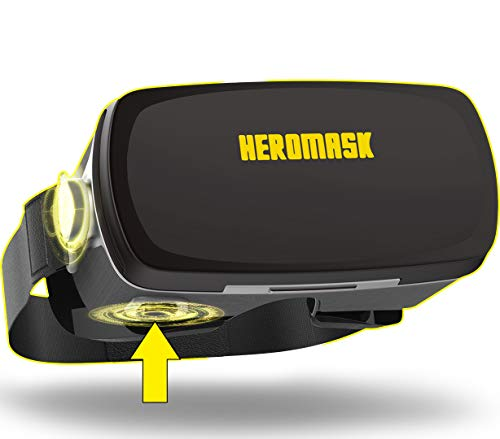 Heromask Pro VR Brille - VR Headset Gaming -Virtual Reality- Geschenk kompatibel mit iPhone 11, X - Samsung s20, S10, S8. Geburtstagsgeschenk -Android Phone- 3D Brille Spiele -Geschenk für männer
