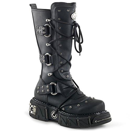 Demonia , Herren Stiefel, Schwarz - Black Pu - Größe: 8 US