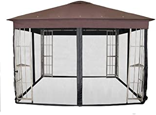Garden Treasures Black Polyester Insect/ Mosquito Net for 10' x 10' Square Metal Gazebo N-577-1N