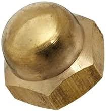 Brass Acorn Nut, Grade 5, Right Hand Threads, #10-24 Threads (Pack of 25)