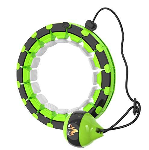 Hula Hoop Intelligente Staccabile da 60-95 cm, Un Dispositivo per l'allenamento dell'addome brucia-Grassi Che Non cadrà, Attrezzatura per Massaggi in Vita Regolabile, stringere la Pancia,Verde