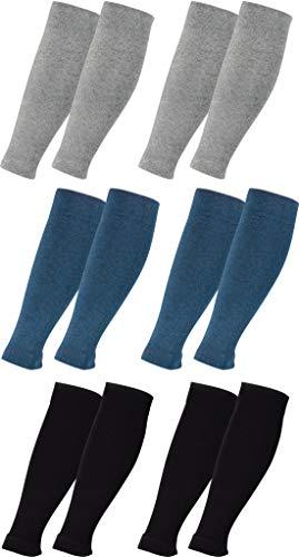 Vitasox 444617 Stulpen Stützstulpen Reisestulpen Baumwolle Damen Herren Stützstrümpfe Reisestrümpfe Kniestrümpfe Schwarz Silber Jeans 6er Pack L/XL