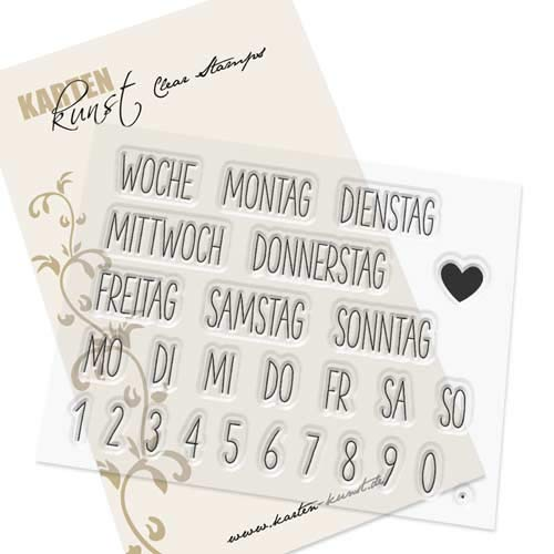 Clear Stamp-Set Stempel-Gummi - Karten-Kunst Kalender Nr. 2