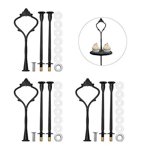 3 sets soporte para pastel barras, tartas accesorios de placas de pastel,...