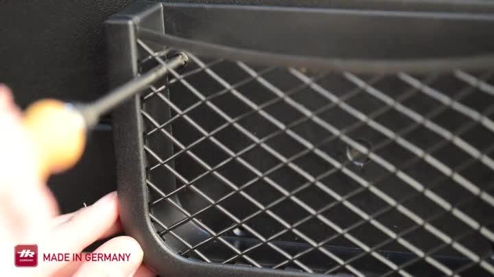 41XjhDKZ2EL HR Universal Auto Ablagenetz 25cm - Netz Tasche zum Verstauen und Sortieren im Fahrerraum - Schwarzes Ablagefach aus…