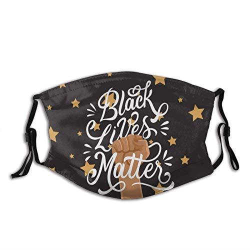 Black Lives Matter - Máscara facial antipolvo, pasamontañas para mujeres, hombres, adultos y adolescentes