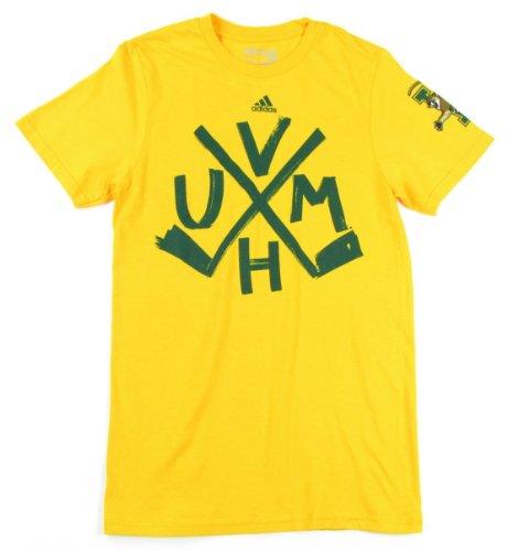 adidas Vermont Catamounts Hockey Sticks T-Shirt–Gelb, Herren, Gelb, X-Large