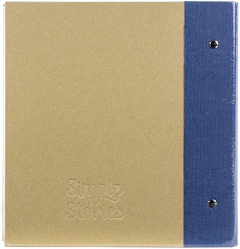 SIMPLE STORIES Archivador de broches de 15,2 x 20,3 cm, color azul marino, talla única