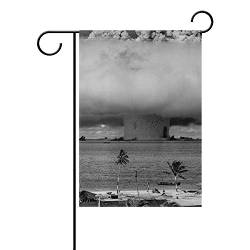 DEZIRO Atomwaffen Test Hofflagge Custom Gartenflagge doppelseitig, Polyester, 1, 12x18(in)