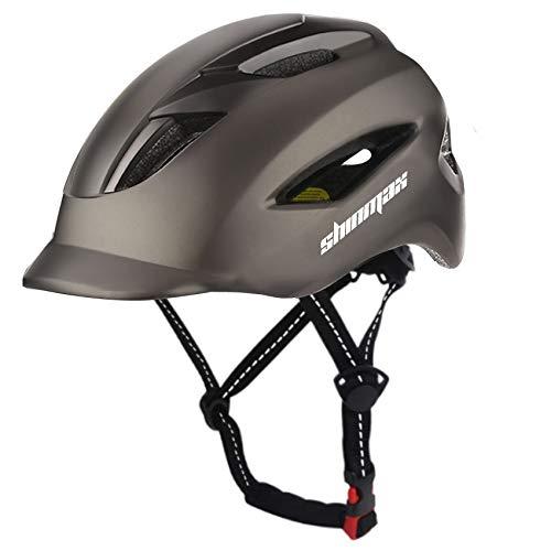 Shinmax Fahrradhelm für Herren Damen,Fahrradhelm mit LED-Licht & Reflektierender Sicherheitsgurt,Urban Mountain & Road Fahrradhelme,Fahrradhelm Verstellbare Größe Erwachsene 57-62cm