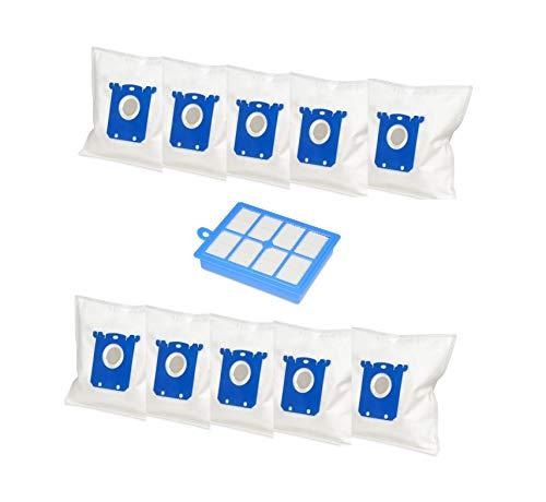 Set di sacchetti in tessuto non tessuto per aspirapolvere con 10 sacchetti per aspirapolvere e 1 filtro HEPA, adatto per AEG/Electrolux