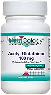 NutriCology Acetyl-Glutathione 100 mg 60 Scored Tablets