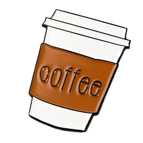 Taza De Café Esmalte Pin Coffee Life Lovers Badge Broche Pin De Solapa Denim Jeans Shirt Bag Cartoon Jewelry Creative-Default