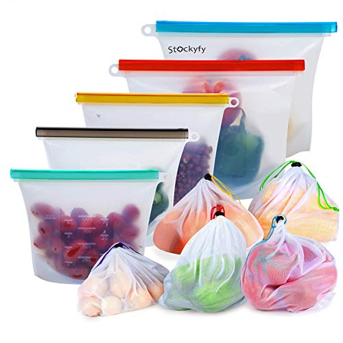 Reusable Silicone Food Storage Bags with Airtight Seal Now $4.99 (Was $16)