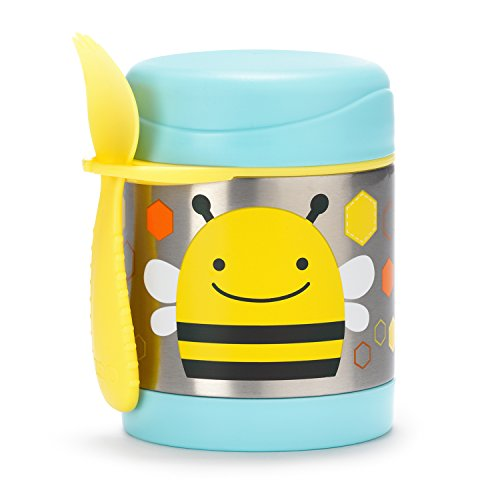 Skip Hop Insulated Food Jar: Stainless Steel Baby Food Container, Bee