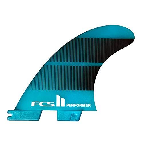 FCS II Performer Neo Glass Tri-Quad Fin Set Teal Gradient Medium