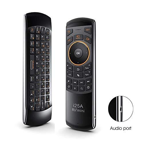ZXGHS 2.4G Ratón Aire De Control Remoto, Mini Teclado/con Toma De Auriculares, para La Televisión Inteligente/Caja Androide/para Windows Y Mac OS PC