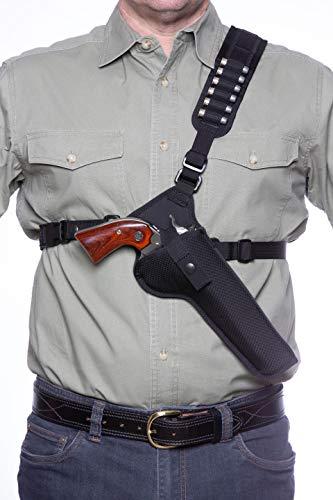 DIAMOND D OUTDOORS Denali Chest Holster - Revolver 6 1/2', Black