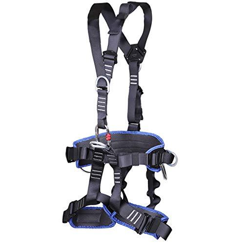 Casinlog ArnéS de Escalada de Cuerpo Completo CinturóN de ArnéS Ajustable CinturóN de Seguridad CinturóN de ProteccióN de Salvamento de Alpinismo