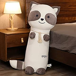 70CM-110CM Cartoon Husky Dog Plush Long Sleep Pillows Stuffed Animal Raccoon Toys Cushion Doll Kawaii Kids Nice Gifts Toys...