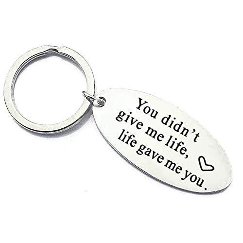 AYDOME Schlüsselanhänger mit Gravur Edelstahl You Didn't give me Life. Schlüsselanhänger Freundschaft Gravur
