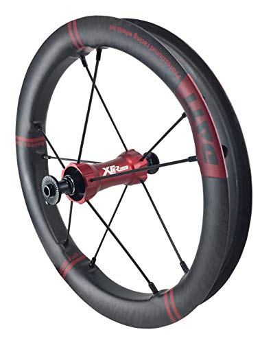 DATI XR-LINE Japan Limited Edition Push Kids Balance Bike Wheels Carbon Rim12 with CeramicSpeed Bearing (Red, KOKUA: 84 * 9MM)